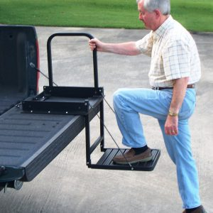 Pickup truck bed step.